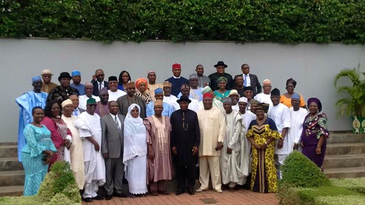 Former President Goodluck Jonathan and the Immediate Past Members of the Federal Executive Council
